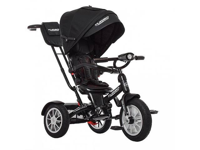 бу Велосипед трехколесный с ручкой детский Turbo Trike M 4057-20, надувные колеса, черный в Дубно (Ровенской обл.)
