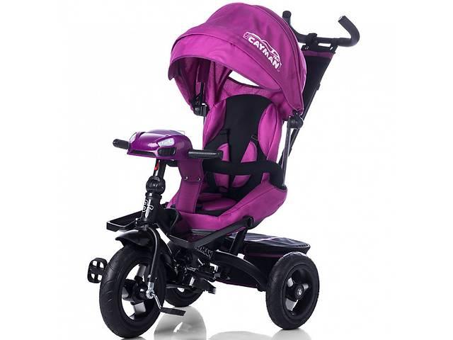 купить бу Велосипед трехколесный TILLY Cayman T-381 Фиолетовый с пультом и усиленной рамой в Одессе