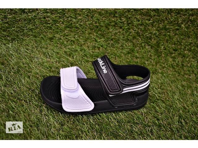Детские пляжные босоножки сандалии Adidas пена черный белый р24-29- объявление о продаже  в Южноукраинске