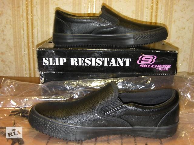 Распродажа: Новые Кожаные Туфли для Работы Skechers Work Relaxed Fit Gibson-Brogna SR Размер 5.5М / 35.5 / 22.5см из США- объявление о продаже  в Киеве