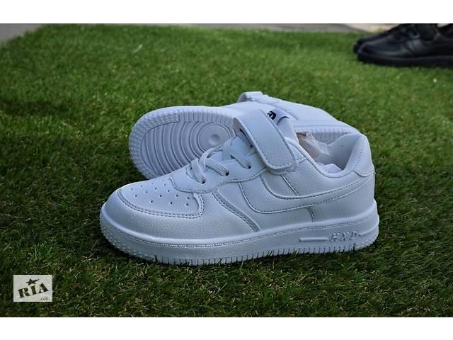 купить бу Подростковые детские кроссовки найк Nike air force white р31-36 в Южноукраинске