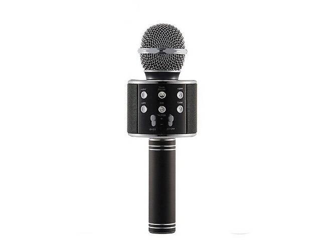 бу Беспроводной микрофон-караоке  WS-858 Черный в Харькове