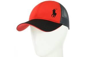Бейсболка BSH18070 красный-черный SKL11-242696