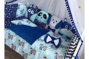 Бортики для кроватки+ортопедична подушка
