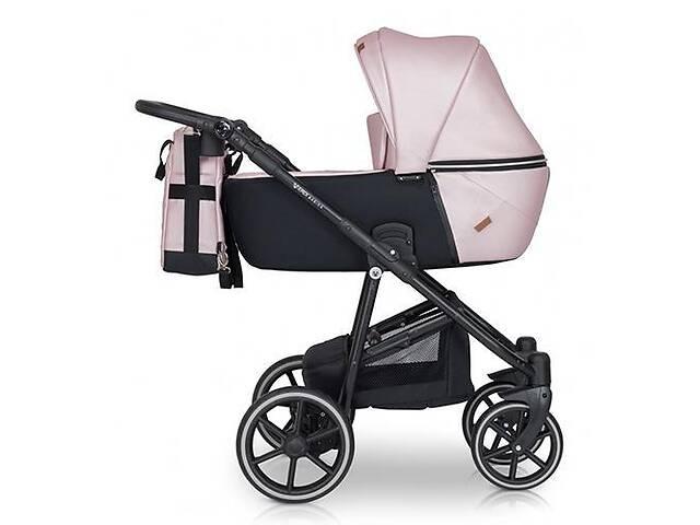 купить бу Детская коляска 2 в 1 из эко-кожи с алюминиевой рамой универсальная Verdi Verano 03, розовый в Киеве