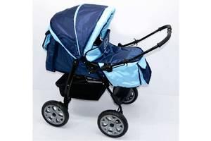 Детская коляска Viki Karina 86- С-14 Темно-синий с голубым