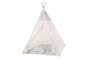Детская палатка вигвам Springos Tipi Xxl White/Mix SKL41-277688