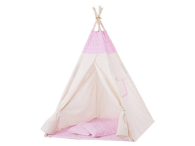 бу Детская палатка вигвам Springos Tipi Xxl White/Pink SKL41-277687 в Одессе