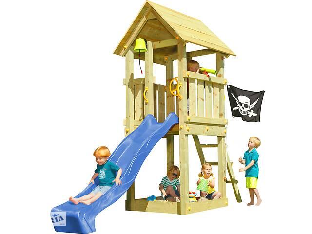 Детская игровая площадка KBT Blue Rabbit KIOSK домик с горкой Синий
