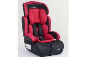 Детское автокресло JOY 94926 универсальное, группа 1/2/3, вес ребенка от 9-36 кг, красное