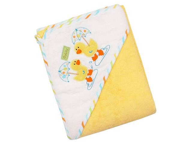 Детское полотенце-уголок махровое для купания новорожденных Baby Mix duck Z-CY-35, 100x100 см., желтое- объявление о продаже  в Києві