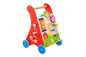 Детские ходунки-каталка Viga Toys с бизибордом (50950)