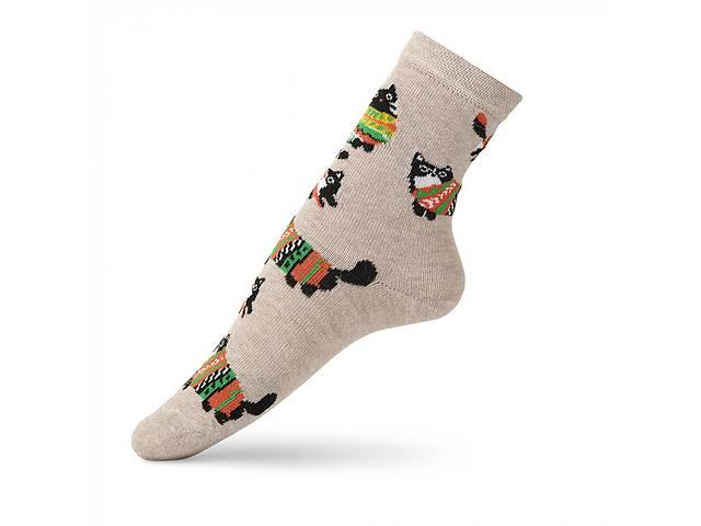 продам Детские носки с рисунком кота в свитере VT Socks Св.бежевый меланж, размер 18-20 бу в Киеве