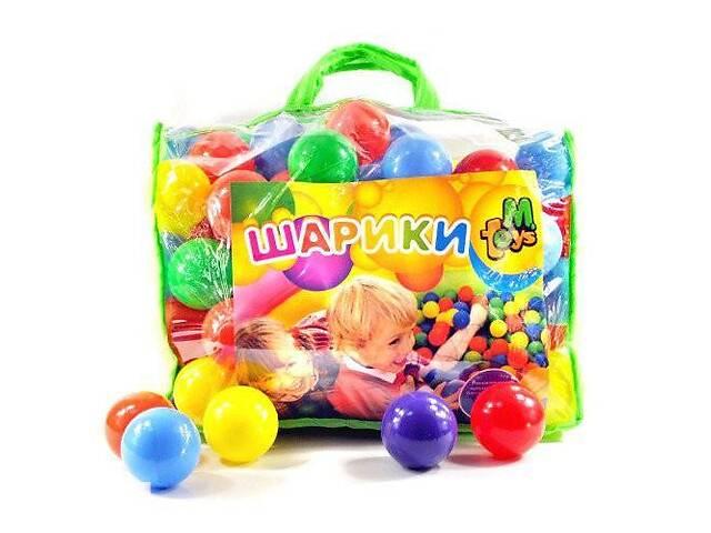 Детские пластмассовые шарики MToys для сухих бассейнов 100 шт. в сумке
