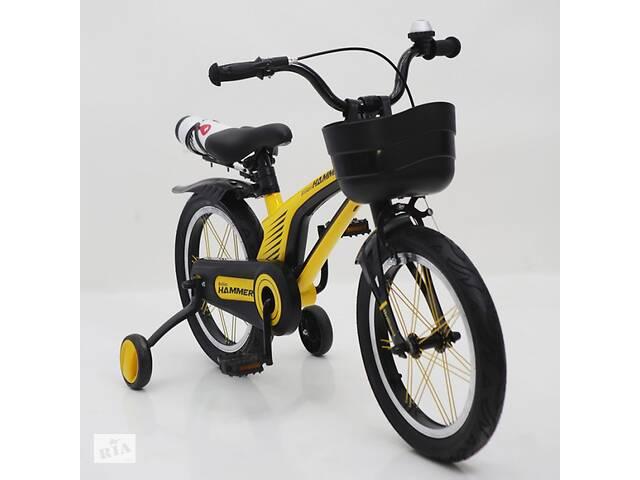 Детский двухколесный велосипед 16 дюймов Hammer Brilliant HMR-880 желтый- объявление о продаже  в Одессе