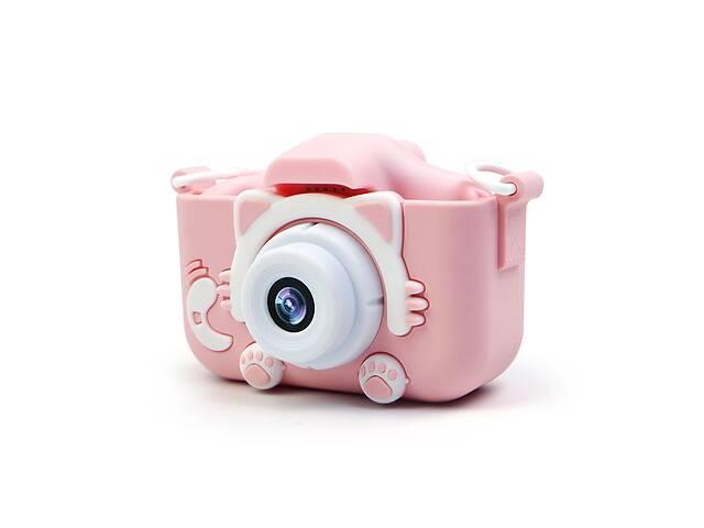 купить бу Детский фотоаппарат Fun Kitty Camera HD Фото и видео съемка, дисплей, противоударный, Две камеры Pink (112P-MP) в Киеве