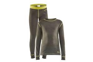 Детский комплект термобелья Craft Core Wool Merino Set Jr Peak Melange 98/104 (1909714-648200) 86/92