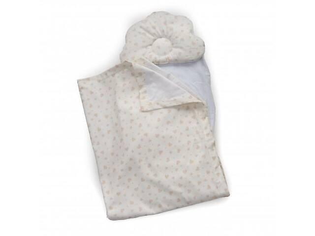 продам Детский набор в коляску Twins 100% хлопок (плед, ортопед. подушка, простынь) белый бу в Киеве