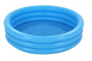 Детский надувной бассейн Круг Intex на 173 литра, голубой