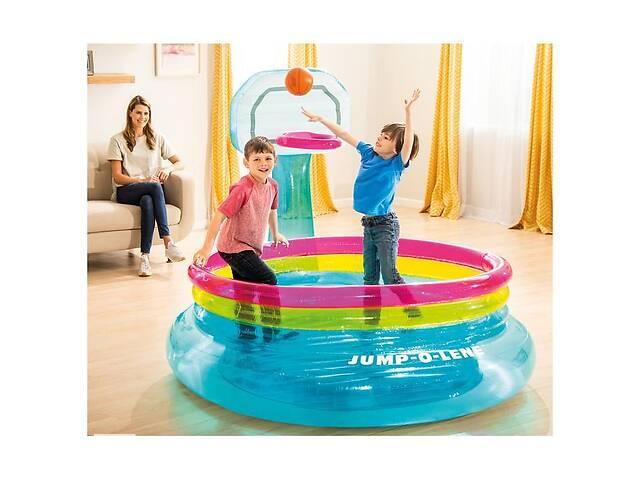 бу Детский надувной развлекательный батут с кольцом для баскетбола Intex, 61 см в Киеве