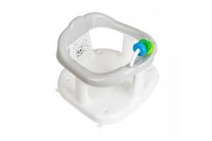Детский пластиковый стульчикс игрушкой для купаниямаленьких детейMaltex Панда, белый с серым