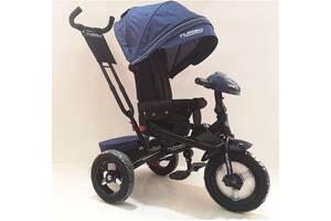 Детский трехколесный велосипед TURBO TRIKE М4060-11L на резиновых надувных колесах