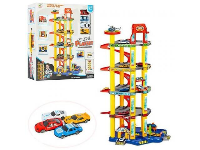 купить бу Детский игровой набор гараж-паркинг 5 ярусов с лифтом. Подарок для мальчика от 3 лет. в Киеве