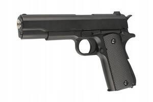 Детский игрушечный пистолет металлический Airsoft Gun, черный (ZM19)