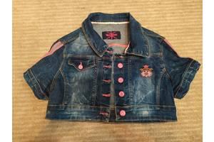 Джинсовка курточка с коротким рукавом