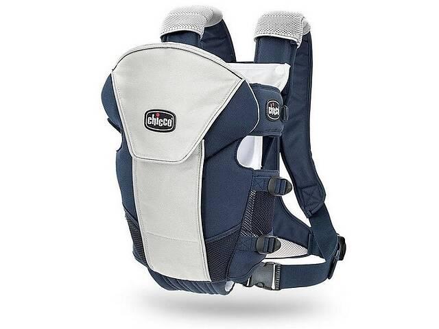 купить бу Эрго нагрудная рюкзак-кенгуру для младенцев Chicco Ultrasoft Magic Синий с серым (1120710703) в Киеве