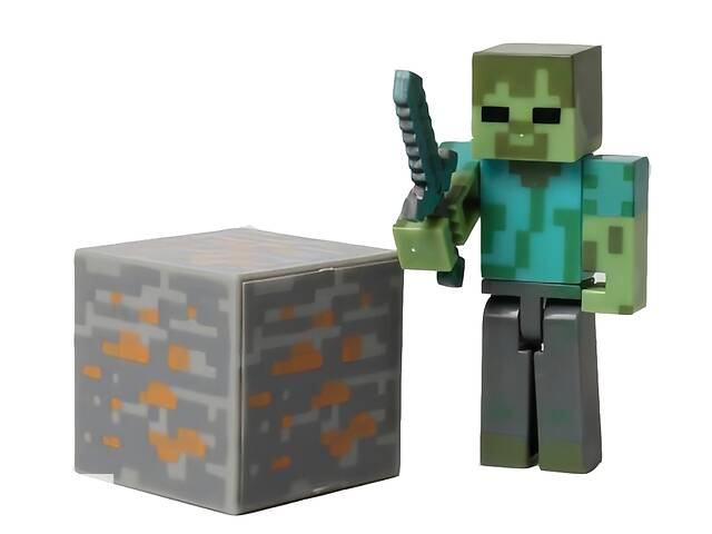 купить бу Фигурка Майнкрафт, Зомби с аксессуарами, 6 см - Zombie, Minecraft в Львові