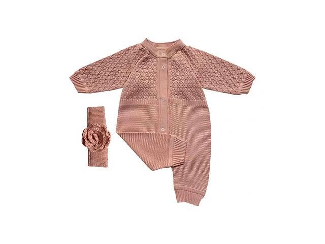 купить бу Комбинезон ажурный для девочки Розовый +повязка на голову, размер 80см Прованс в Киеве