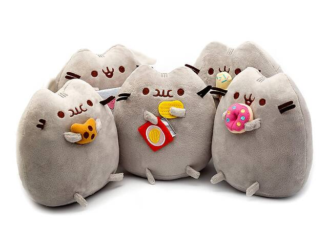 бу Комплект Мягких игрушек коты Pusheen cat из пяти штук (n-754) в Киеве