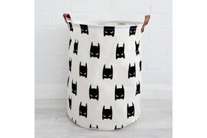 Корзина для игрушек белья GTM Batman 50 x 40 см Белая (4050-FL)