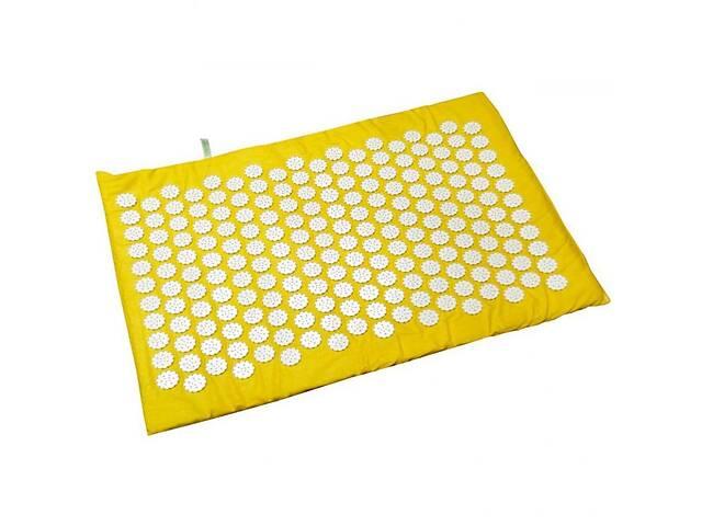 бу Коврик массажно-акупунктурный маленький с иголками 55 х 40 см, Релакс желтый. Полезный подарок от 3 лет в Киеве