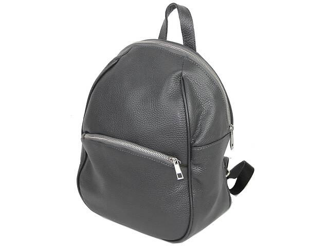 продам Кожаный женский рюкзак Borsacomoda серый 9 л бу в Киеве