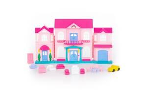 Кукольный домик Polesie София с набором мебели и автомобилем, 14 элементов