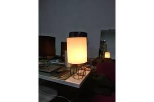 Лампа каркасная с абажуром