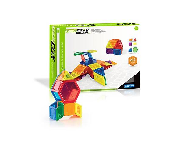 купить бу Магнитный конструктор Guidecraft PowerClix Solids, 44 детали (G9421) в Киеве