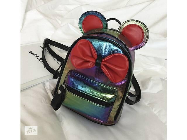 купить бу Маленький детский рюкзак Микки Маус с ушками и бантиком, мини рюкзачок для девочек блестящий с ушами Хамелеон в Днепре (Днепропетровск)