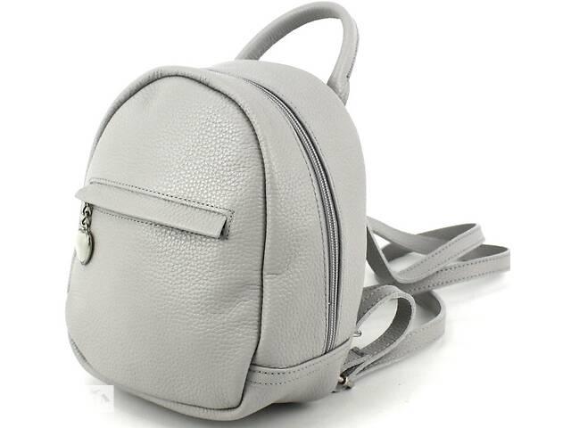 купить бу Маленький кожаный женский рюкзак Borsacomoda 3 л серый 835.016-1 в Киеве
