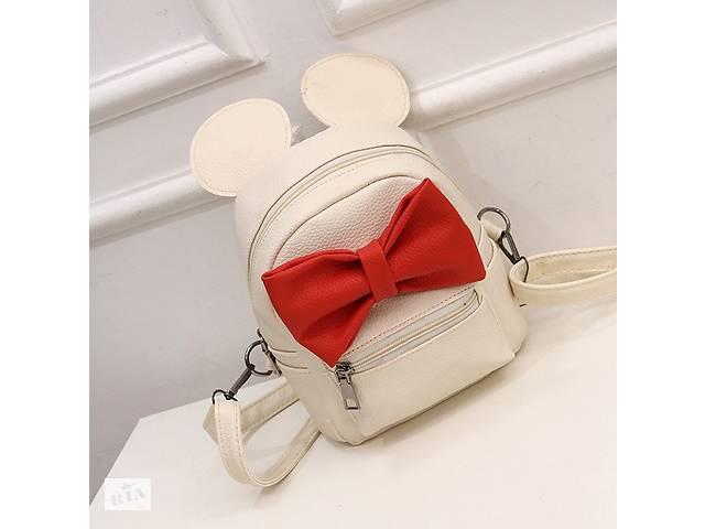 Маленький женский рюкзак с ушами Микки Бежевый- объявление о продаже  в Днепре (Днепропетровск)
