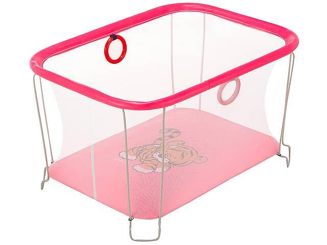 продам Манеж Qvatro Солнышко-02 мелкая сетка  розовый (tiger) бу в Одессе