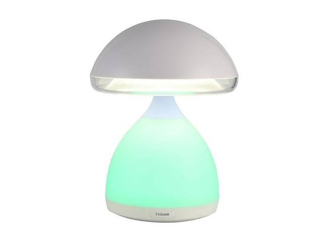 купить бу Меняющий цвета Led ночник Mush Light Атмосферная лампа Гриб с пружинистой шляпкой с аккумулятором в Одесі