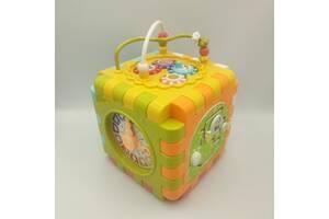 Музыкальный куб YANUO BLOCK MUSIC CUBE 808, на батарейках, свет, звук, музыка.