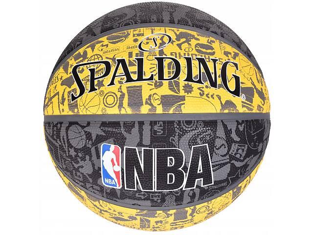 бу Мяч баскетбольный Spalding NBA Graffiti Outdoor Grey/Yellow Size 7 в Львове