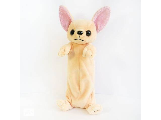 бу Мягкая игрушка Kronos Toys пенал собака Чихуахуа 26 см  (265_zol) в Киеве