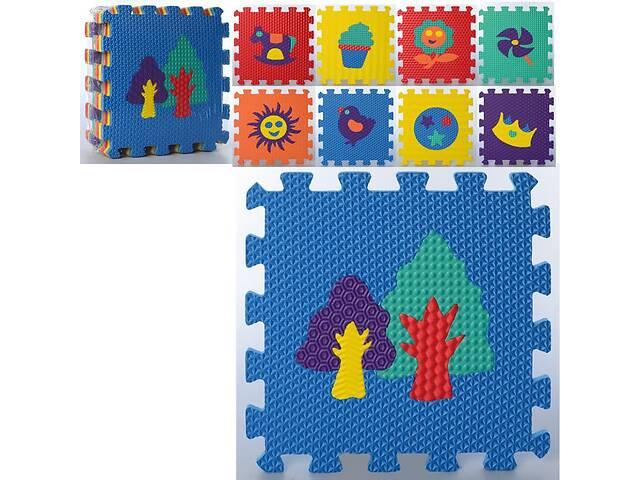Мягкий детский коврик-пазл Eva из 9 деталей с рисунками животных и природы, 32 х 32 х 0.9 см, разноцветный- объявление о продаже  в Киеве