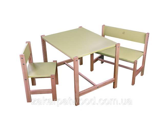 купить бу Набір дитячих меблів з дерева S1-Z (колір зелений) в Львове