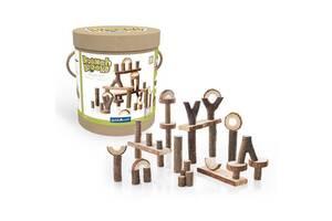 Набор блоков для творчества детский Guidecraft Natural Play Палки и бруски, 36 шт